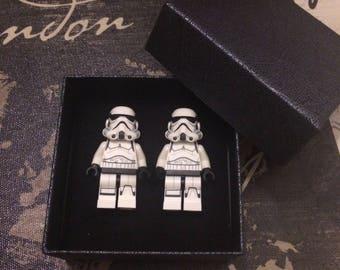 LEGO Star Wars cufflinks - StormTrooper cufflinks - groomsmen gift - Wedding cufflinks - Best man gift.