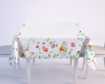 Tablecloth - 100% linen - maxi tablecloth - printed tablecloth - hand made in Lithuania