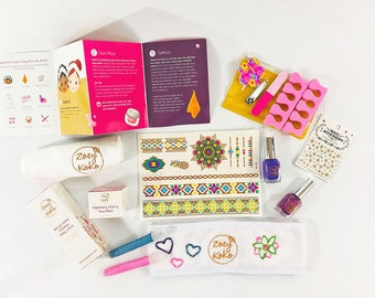 Pamper Pouch Spa Party Kit for Girls - All Natural & Trendy!