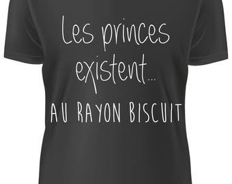 T-shirt NOIR- les princes existent - A-WD-004