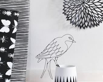 Decorative Bird - Bird - room decor - women - handmade - wire - Valentine's day gift
