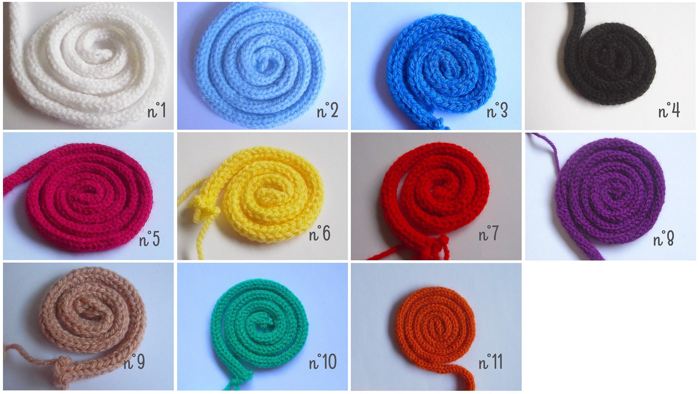 tricotin au m tre corde de laine i cord tube pour pr nom. Black Bedroom Furniture Sets. Home Design Ideas