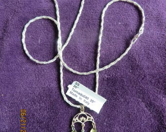 """20"""" Italian Sterling Silver Chain and lovely charm"""