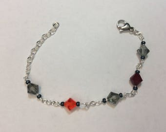 """Bracelet for women """"Chained Austrian crystals"""""""