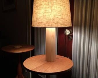 Ash Tapering Column Lamp
