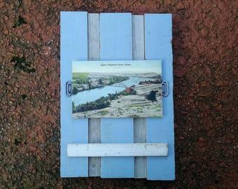 Framed Vintage Postcard of Willamette River, Oregon