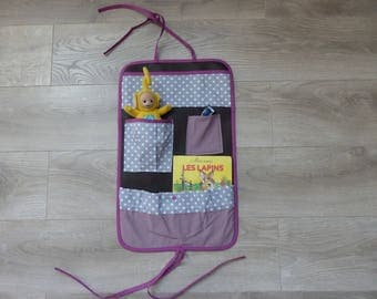 Purple chocolate storage toy bed, car or Park (made to order)