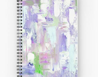 Purple Spiral Notebook, Abstract notebooks, artistic notebooks  - FREE Shipping