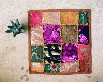 Boho Pillow Case, Decorative Pillow, Made in India // SALE