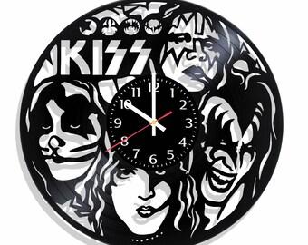 Kiss wall clock, Kiss wall poster
