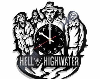 Hell or Highwater band design wall clock, Hell or Highwater wall poster