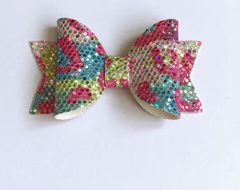 Small leopard print Dolly bow