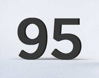 Flat Cut Acrylic House Numbers - Gotham Medium