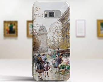 """Eugene Galien-Laloue """"Le Marché aux Fleurs"""". Samsung Galaxy Note 8 Case Google Pixel XL Case LG G6 case Galaxy A3 2017 Case and more."""