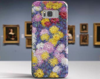 """Claude Monet, """"Chrysanthemums"""".Samsung Galaxy S7 Case LG G6 case Huawei P10 Case Galaxy J5 2017 Case and more. Art phone cases."""