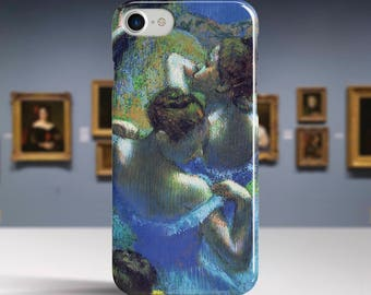 "Edgar Degas, ""Blue Dancers"". iPhone 8 Case Art iPhone 7 Case iPhone 6 Plus Case and more. iPhone 8 TOUGH cases. Art iphone cases."