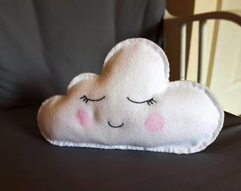 Cute Cloud Cushion / Cloud Pillow / Nursery Cushion / Cloud Shaped Pillow / Felt Cloud