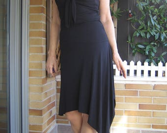 Black Dress Strapless Peep-toes Dress with Dropped Neckline Dress Dress with Chiffon Dress Comfortable Dress