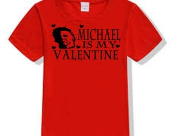 Halloween Michael Myers Slasher Killer Valentine's Day T Shirt Clothes Many Sizes Colors Custom Horror Halloween Merch Massacre