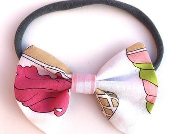 Ice cream pink and white girls headband