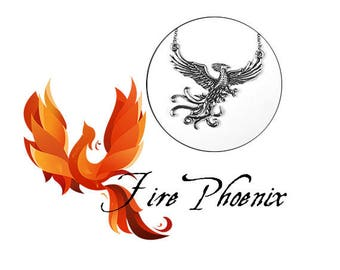 Fire Phoenix Necklace (Fawkes)