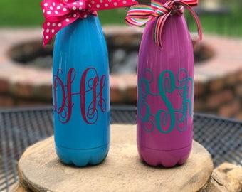 Stainless Steel Water Bottle, Monogrammed Water Bottle, Personalized Water Bottle, Custom Water Bottle, Bridesmaid Gifts