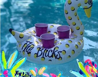 Monogrammed Drink Float, Personalized Drink Float, Custom Drink Float, Bachelorette Party, Drink Float,Swan Float, Housewarming Gift