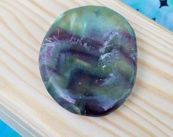 Florite chevron palm stone