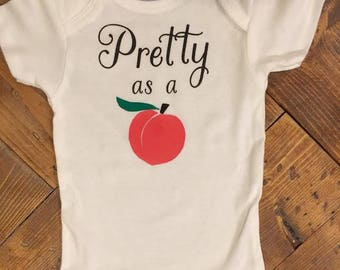 Pretty as a Peach Tee/Onesie