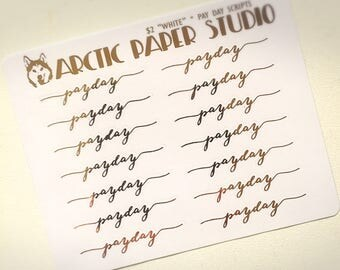 Pay Day Scripts (NS) - FOILED Sampler Event Icons Planner Stickers