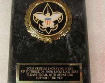 Boy Scout Award Plaque Free Custom Engraving Ships 2 Day Priority Mail Same Day!!