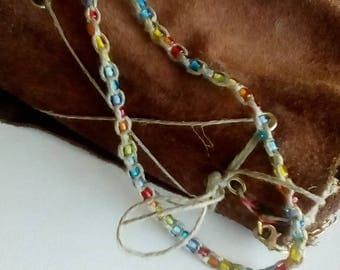 Rainbow Power Hemp Necklace