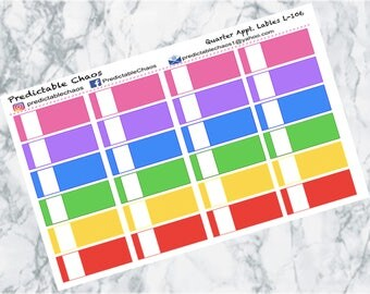 Quarter Appointment Labels, planner stickers