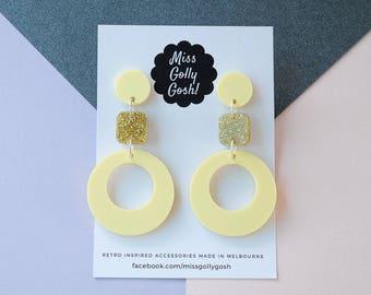 Small Retro Circle Earrings
