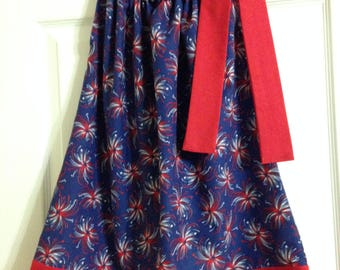 Patriotic Fireworks Pillowcase Dress