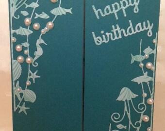 Happy Birthday - Sea shore design