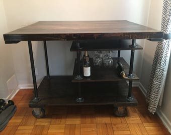 Industrial Recycled Hand-Built Island/Bar