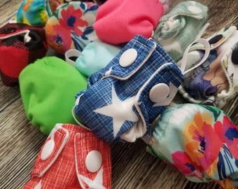 Cloth Diaper Keychain - Diaper Ornament - Diaper Key Chain - Tiny Cloth Diaper