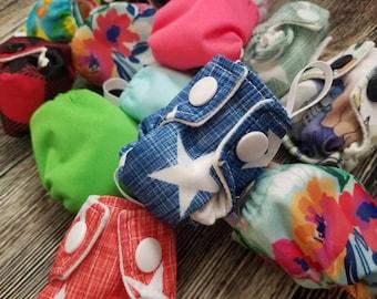 Cloth Diaper Keychain - Diaper Ornament - Diaper Key Chain - Tiny Cloth Diaper