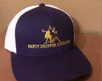 Snapback Mesh Baseball Hat Purple / White