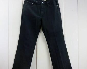 "Vintage Womens Calvin Klein Black Denim Boot Cut Jeans 31"" x 29.5"""