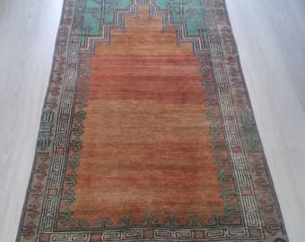 "Oushak Rug,Vintage Turkish  Rug,Handmade Pastel Colors Rugs,Area Rug,Home Living ,Floor Rug,Vintage Rugs,3×8'3""feet,,"