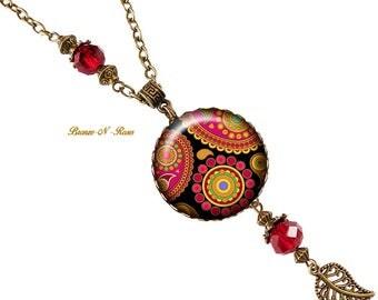 Paisley necklace necklace India ethnic patterns style bronze