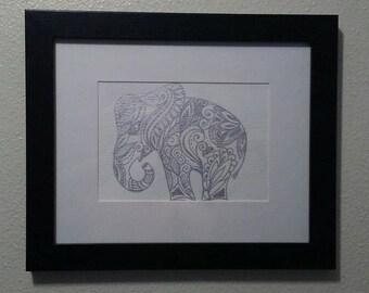 Ganesh, framed, original painting