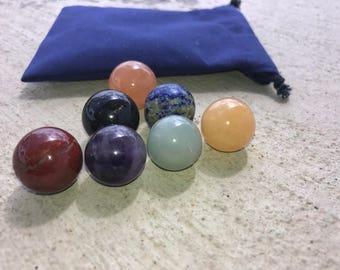 Chakra Crystal BallSet Set|Healing Crystals And Stones|Reiki|Crystal Grid|sacred geometry|amethyst|lapis lazuli|Meditation|Mindfulness gift