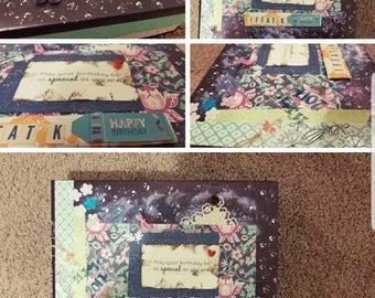 Handmade wall/table birthday frame