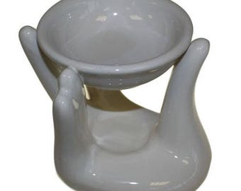 Helping Hand Oil Burner - White-Aromatherapy