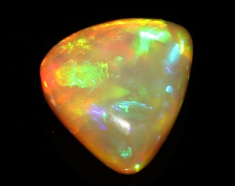 Very Nice AAA++ Top Quality Rear Piece Of Natural Ethiopian Welo Fire Opal Gemstone Cabochan Fancy Shape 5.00 Cts. Size 10.3 X 15 X 6 MGJ245