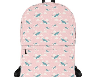 "Sea Unicorn Backpack School Backpack Girl Backpack 15"" Laptop Backpack kids school backpack backpack diaper bag for girls backpack cool kids"