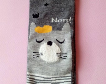 Kawaii cotton socks with puffy ears